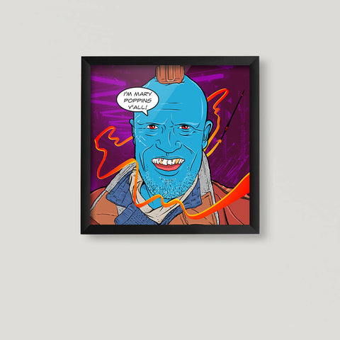 Yondu Pop Art Square Print