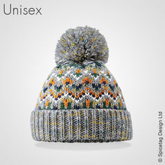 Zesty bobble hat pom pom beanie winter autumn cold fashion style mens womens knitted