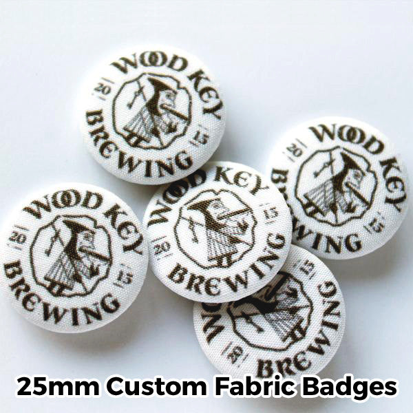 25mm Custom Fabric Badges