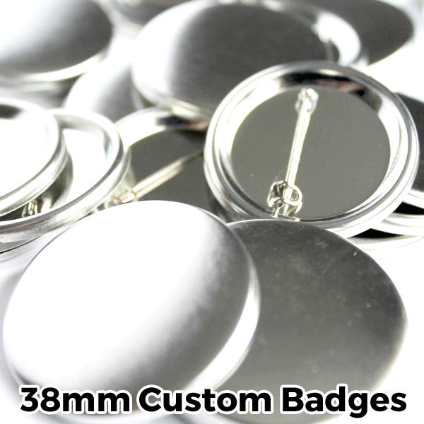 38mm Custom Button Pin Badges