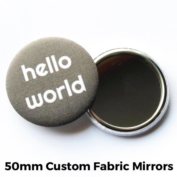 50mm Custom Fabric Mirrors