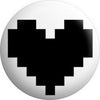 Retro 8 Bit Black Heart