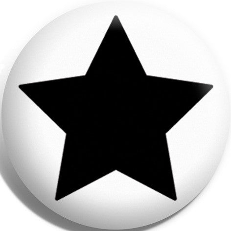Black Jammer Star Button Badge and Magnet