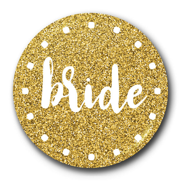 Bride Gold Glitter Hen Do Design