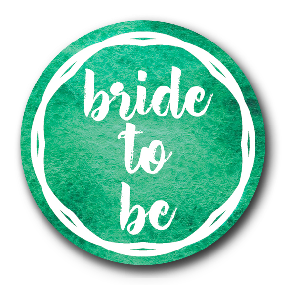 Emerald Green Bride to Be Badge