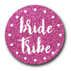 Bride Tribe Cerise Glow Glitter Hen Do Badge