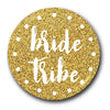 Bride Tribe Golden Glitter Badge
