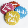Golden Glitz Bride Tribe Group Hen Party Badges