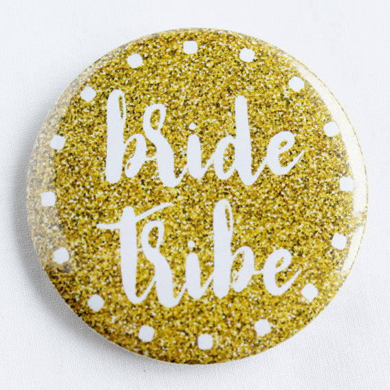 Bride Tribe Golden Glitz Badge Design