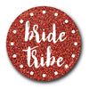 Bride Tribe Scarlet Shimmer Hen Do Badge