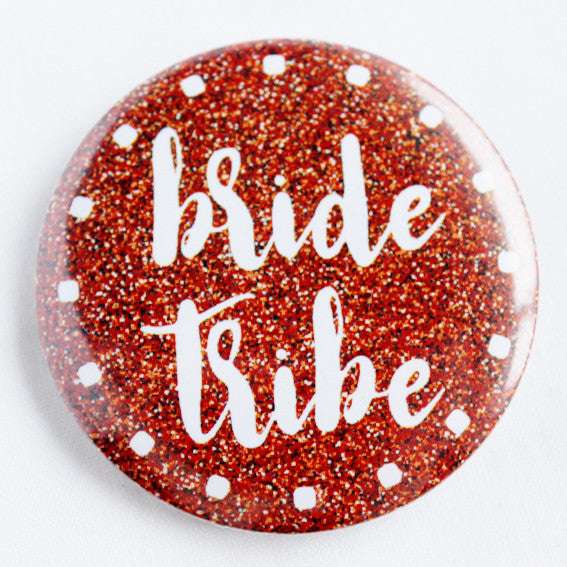 Bride Tribe Scarlet Shimmer Hen Night Badge