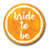 Bright Orange Bride Hen Badge