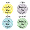 Chevron Personalised Hen Night Badges