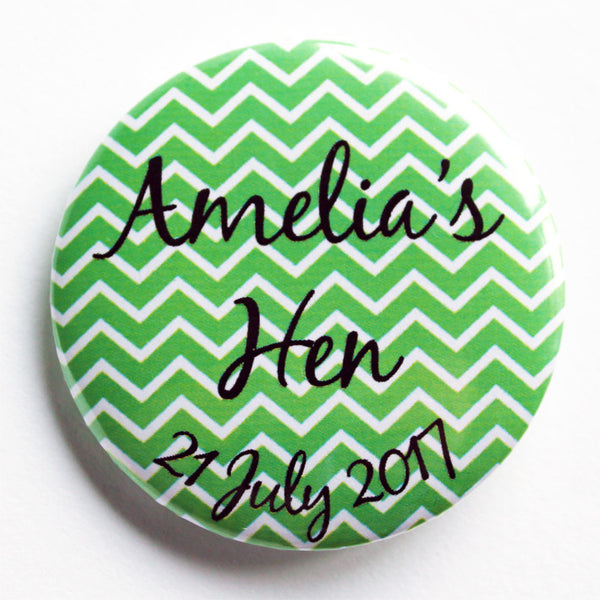 Spearmint Chevron Hen Do Accessory