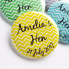 Lemon Chevron Personalised Hen Night Badge