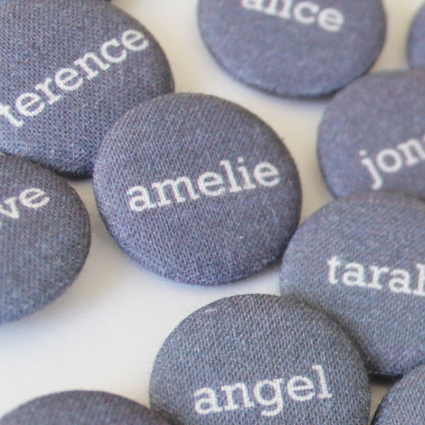 25mm Fabric Wedding Badge Favours