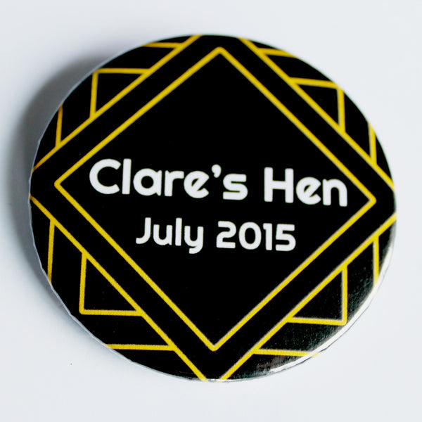 Flapper 1920s Hen Party Badges