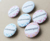 50mm Fabric Wedding Badge Favours