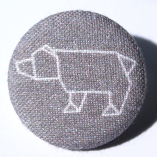 Origami Charcoal Bear Fabric