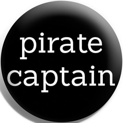 Pirate Captain Button Badge and Magnet