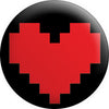 Retro 8 Bit Red Heart