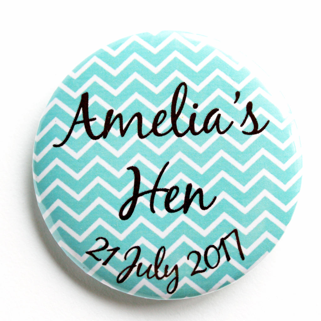 Seafoam Chevron Hen Night Accessory