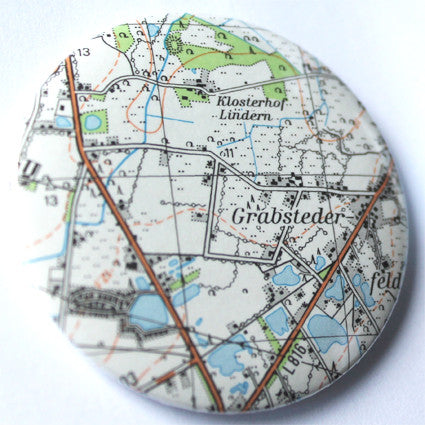 50mm Upcycled Maps