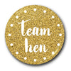 Team Hen Stylish Golden Glitter Badge