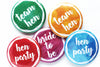 Watercolour Group Hen Night Badges