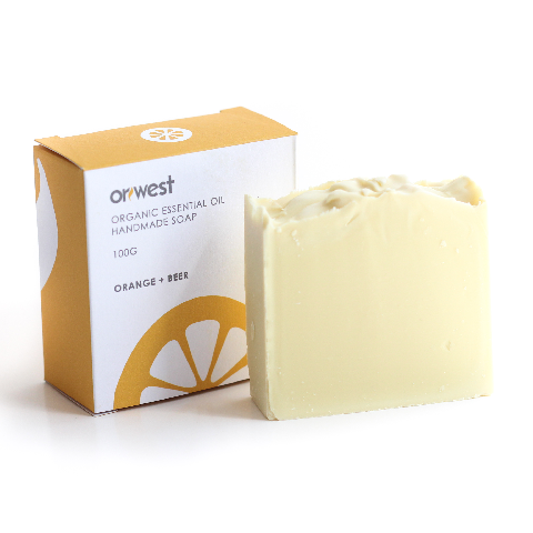 """ORANGE BEER"" Organic Essential Oil Handmade Soap 100g"