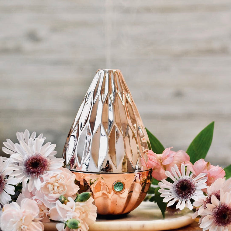LOTUS Rose Gold Ultrasonic Diffuser