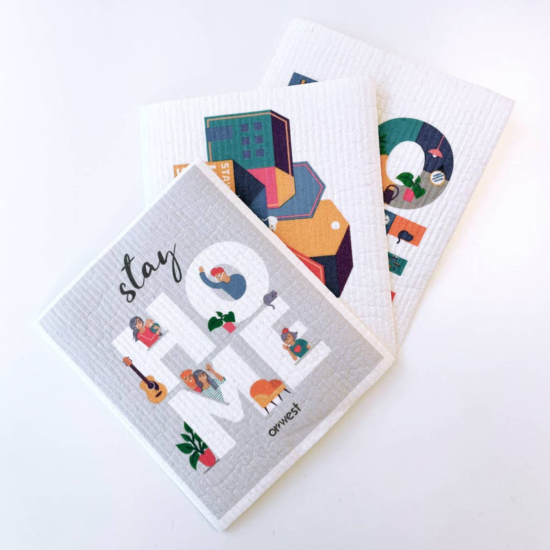 Eco Dish Cloth Combo Pack (3 assorted prints)