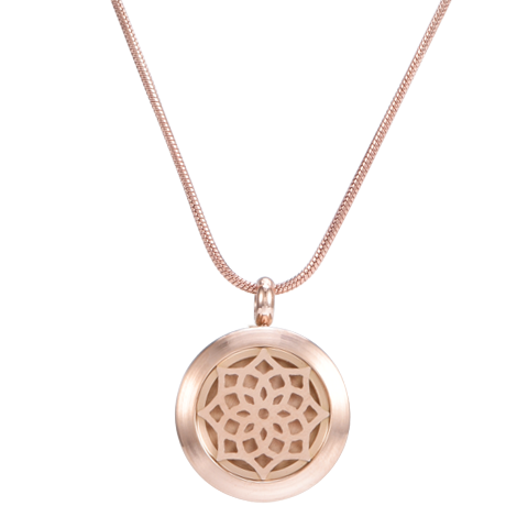 """BLOSSOM"" ROSE GOLD AROMATHERAPY NECKLACE"