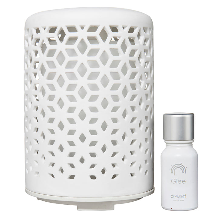 Reverie Ceramic Ultrasonic Aroma Diffuser Gift Pack