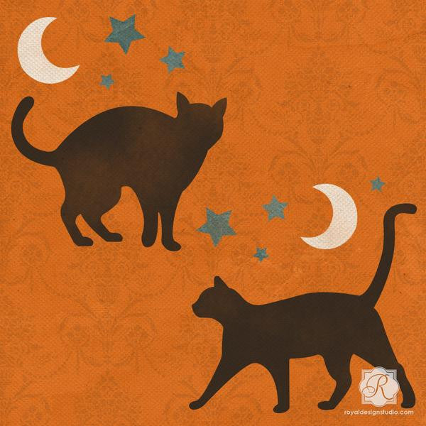 Stray Cat Craft Halloween Stencil