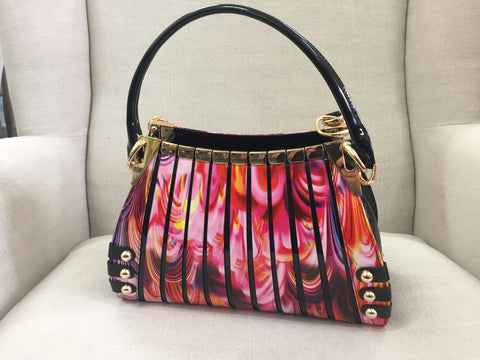 Serenade Beverly Hills Collection Handbag Rainbow Swirl
