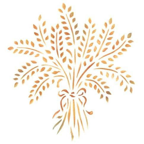 Provence Wheat Bundle Furniture Stencil