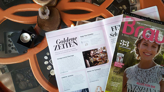A nice article in the Braut magazine about us.....