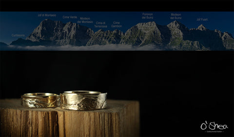 a wedding ring that tells our story