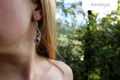 hanging amethyst earrings