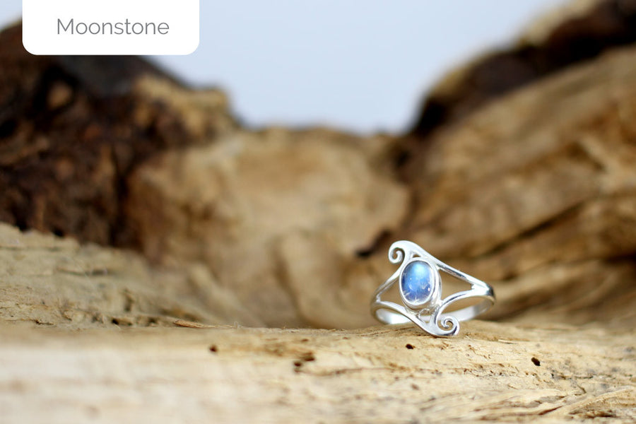 Moonstone Elf Ring