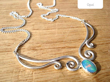 handmade opal elf necklace