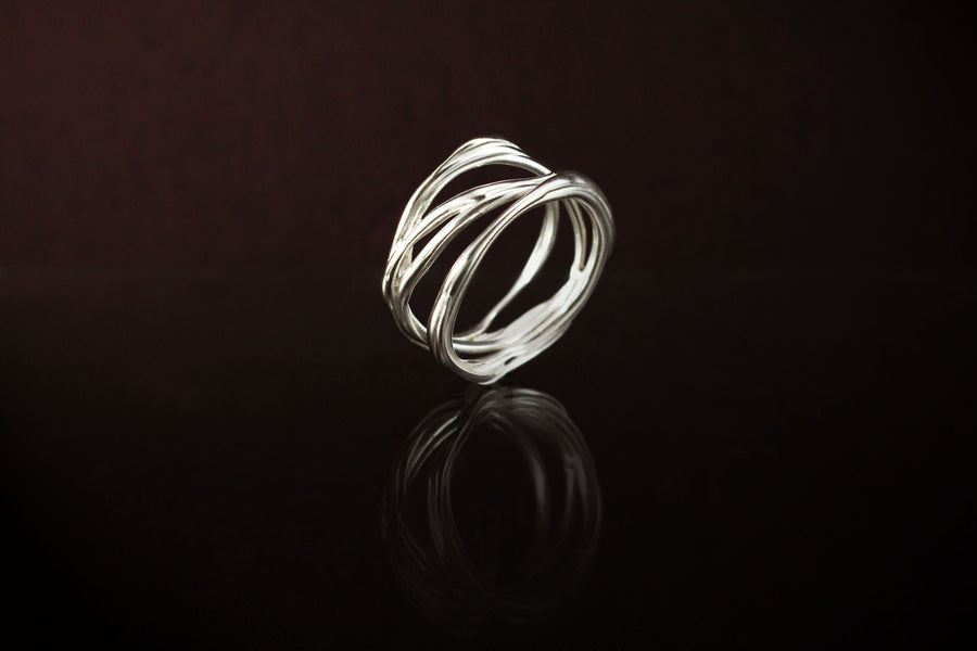 Stack Ring. 925 Silver - www.joshoshea.com | Handmade Jewellery Gold and Silver