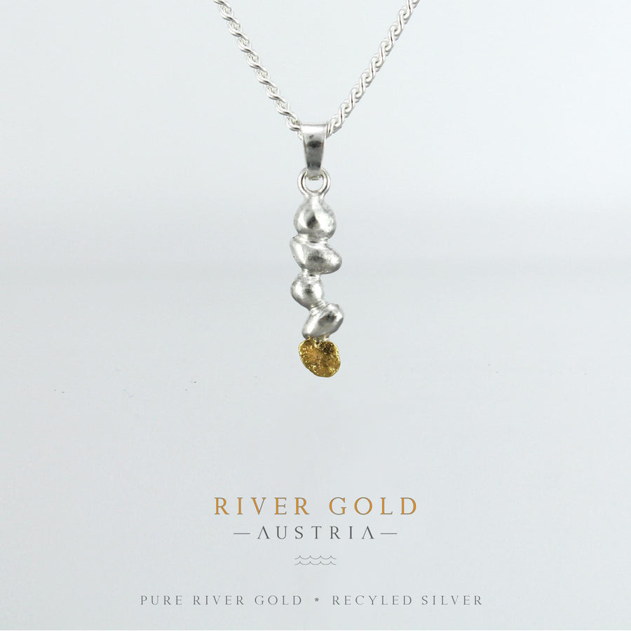 RIVER GOLD PENDANT