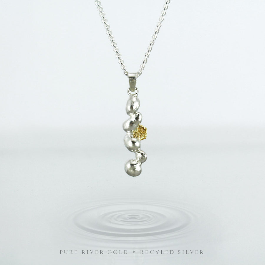 RIVER GOLD PENDANT sm