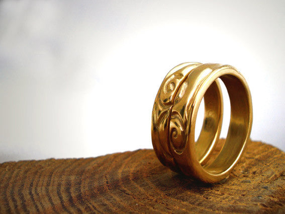 Carved Wedding Ring