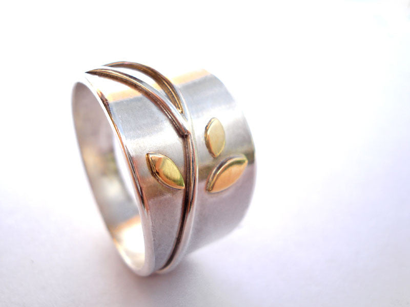 gold and silver ring