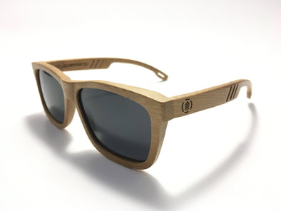 Carbonized Bamboo Wood Sunglasses//Midnight Black Lenses (FN)