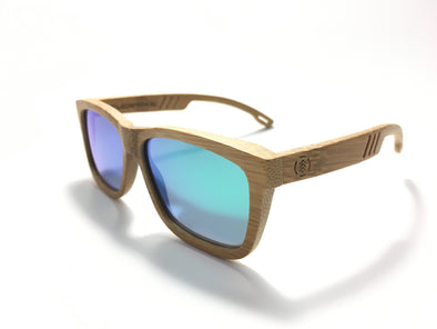 Carbonized Bamboo Wood Sunglasses//Forest Green Lenses (FN)