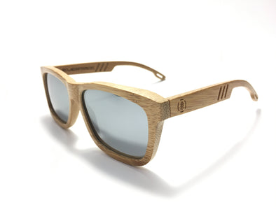 Carbonized Bamboo Wood Sunglasses//Silver Lenses (FN)